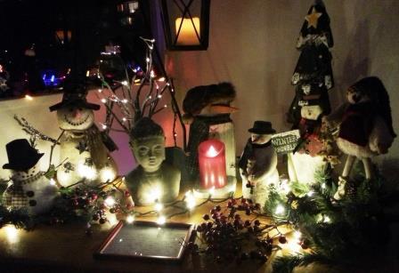 Buddha and Christmas at the Barker home.