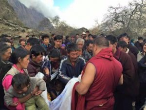 Lama Pema offering his support.