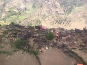 The devastation of Lama Pema's old village.