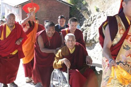 Rinpoche arrives back in India...