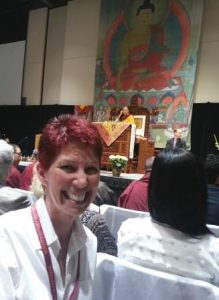 As Karmapa gets ready to talk I take a picture...